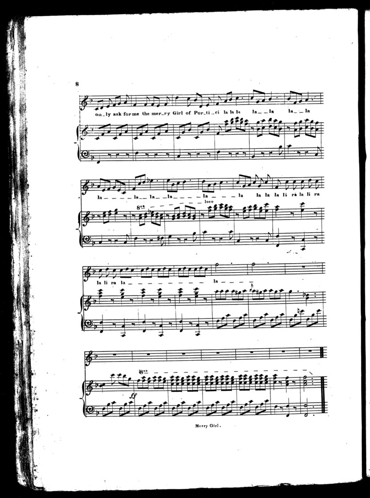 The  merry girl of Portici, medley ballad