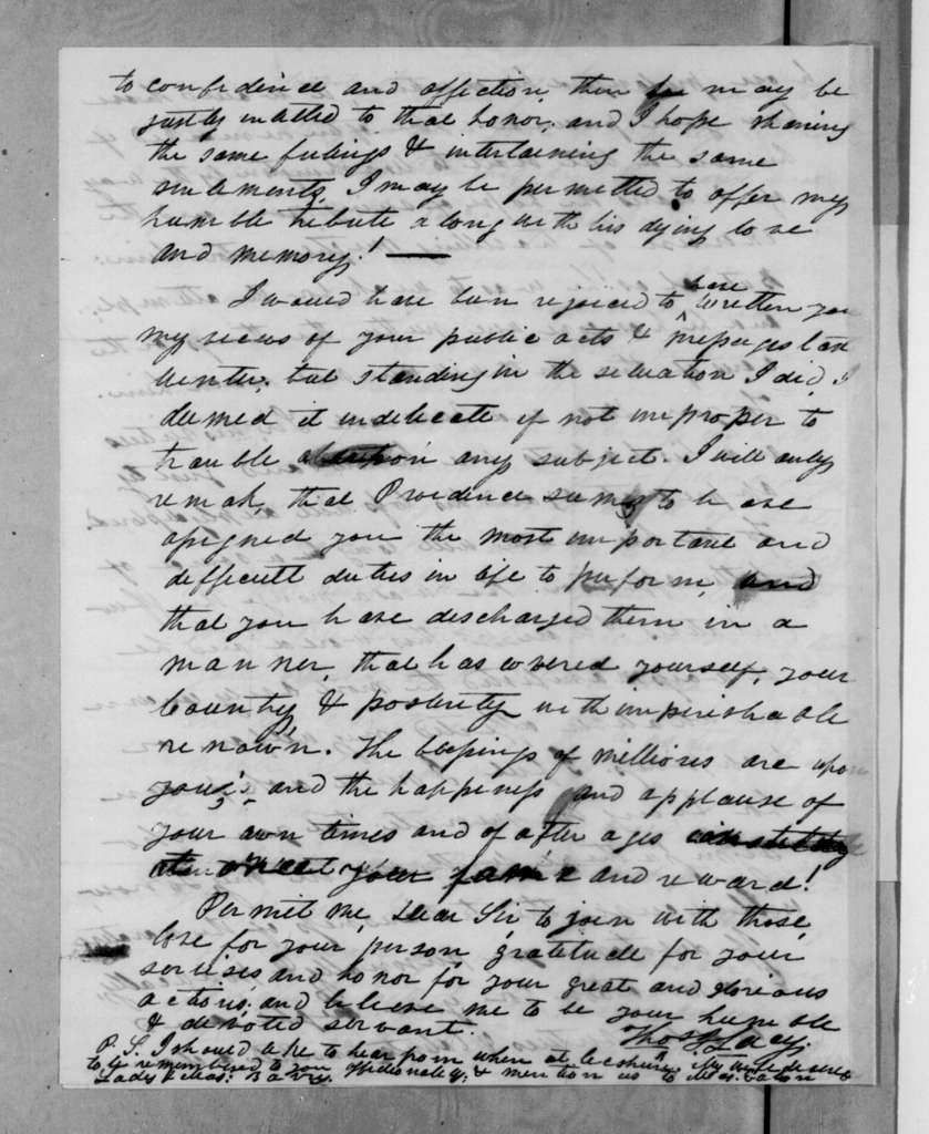 Thomas J. Lacy to Andrew Jackson, April 13, 1833