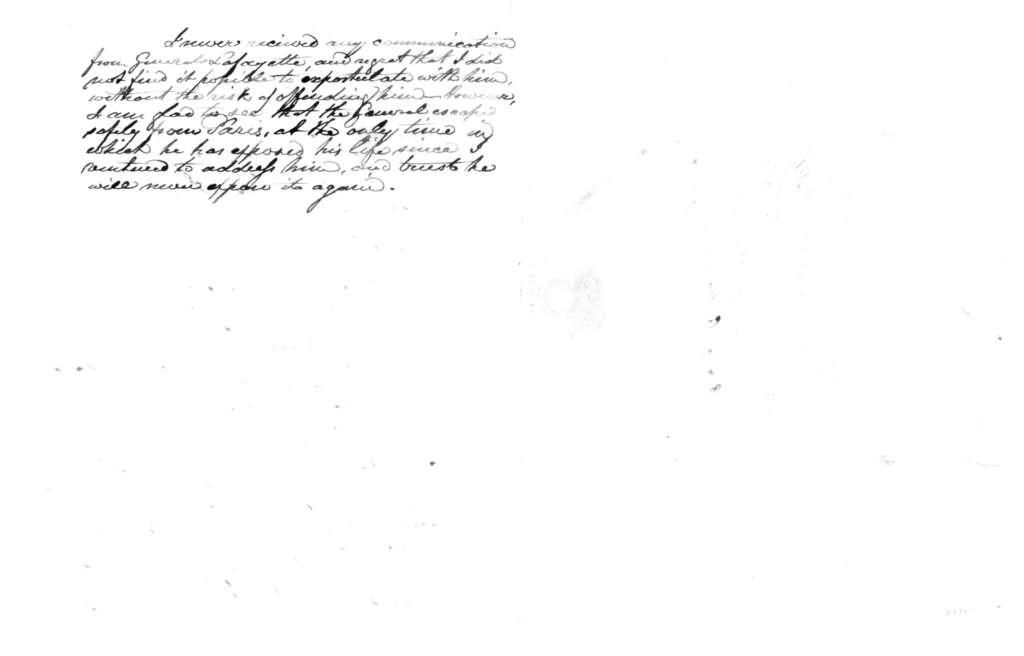 Thomas W. Griffith to James Madison, January 25, 1833.