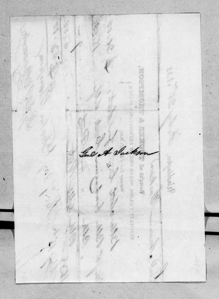 Tucker & Thompson to Andrew Jackson, February 28, 1833