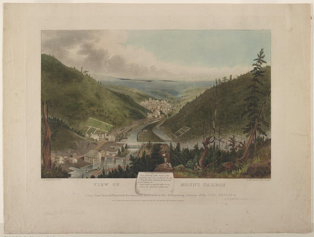 View of Mount Carbon / J.R. Smith, Junr. Del., J.R. Smith, Senr Sculpt.