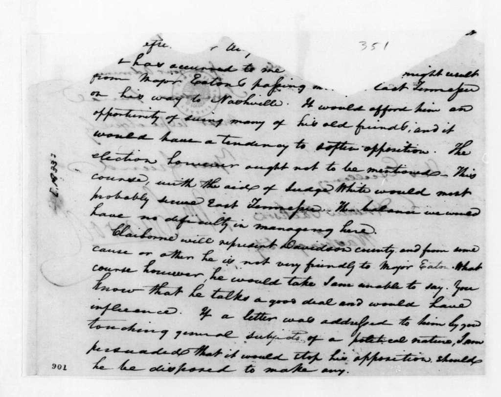 William Carroll to Andrew Jackson