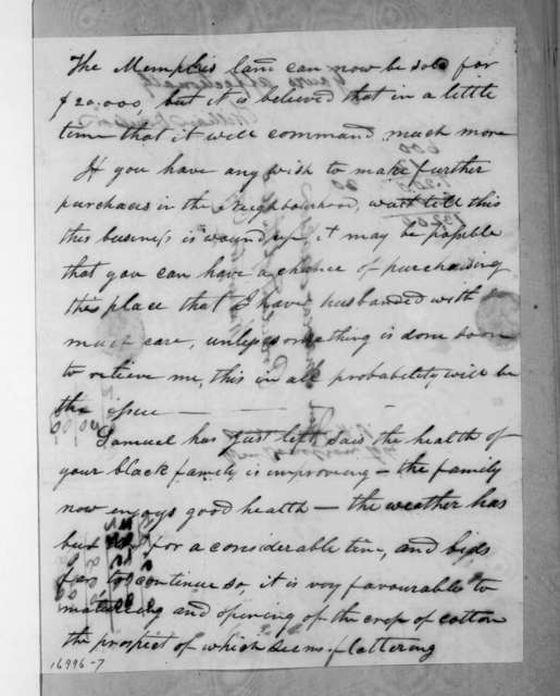 William Donelson to Andrew Jackson, August 28, 1833