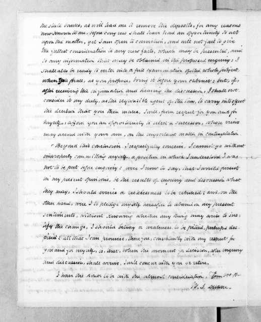 William John Duane to Andrew Jackson, July 22, 1833