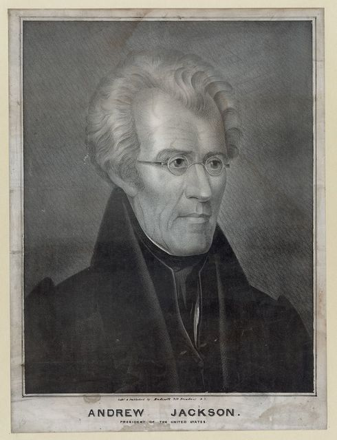 Andrew Jackson, President of the United States / Litho. and published by Endicott, 359 Broadway, N.Y.