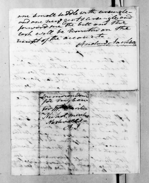 Andrew Jackson to Charles Nichol, August 29, 1834