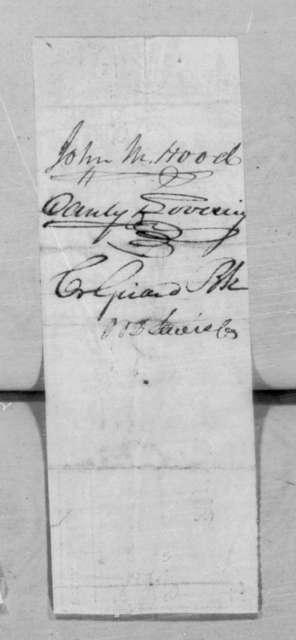 Andrew Jackson to Washington Hood, October 21, 1834