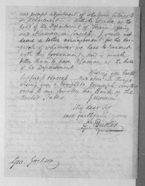 Anthony Butler to Andrew Jackson, December 24, 1834