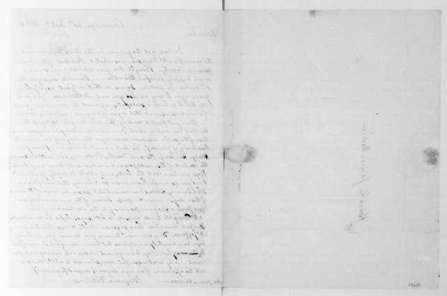 Benjamin Waterhouse to James Madison, February 20, 1834.