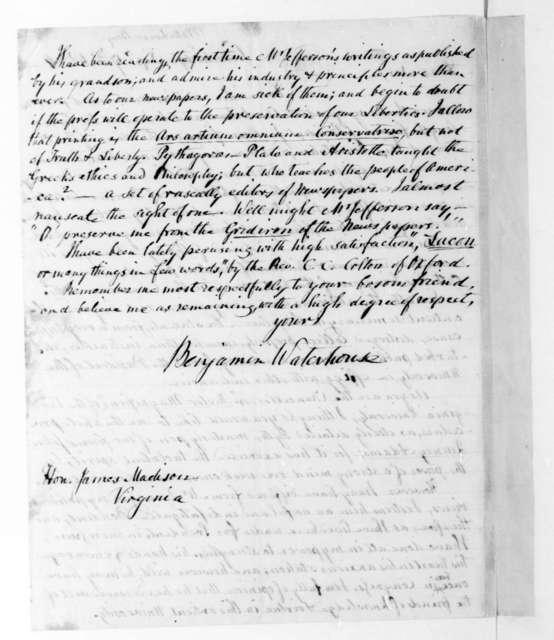 Benjamin Waterhouse to James Madison, September 17, 1834.