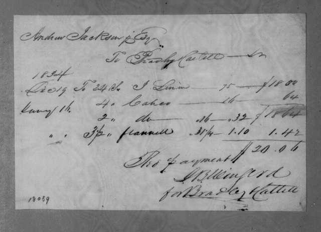 Bradley & Cattell to Andrew Jackson, December 19, 1834