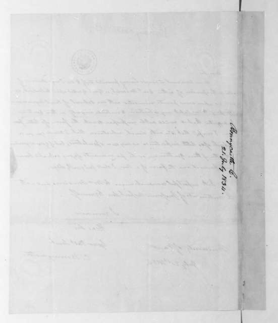 C. Bonnycastle to James Madison, July 21, 1834.