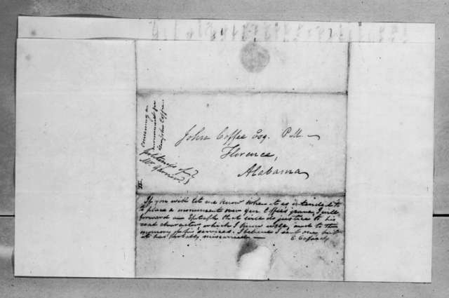 Charles Cassedy to John Coffee, February 25, 1834