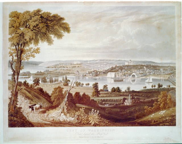 City of Washington from beyond the Navy Yard / painted by G. Cooke ; engd. by W.J. Bennett.
