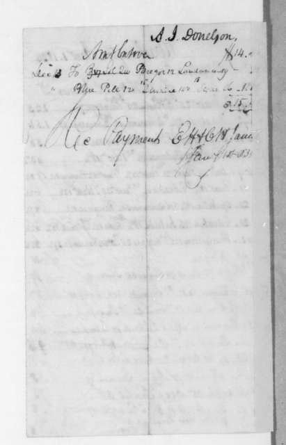 E. H. & C. H. James to Andrew Jackson Donelson, January 1, 1834