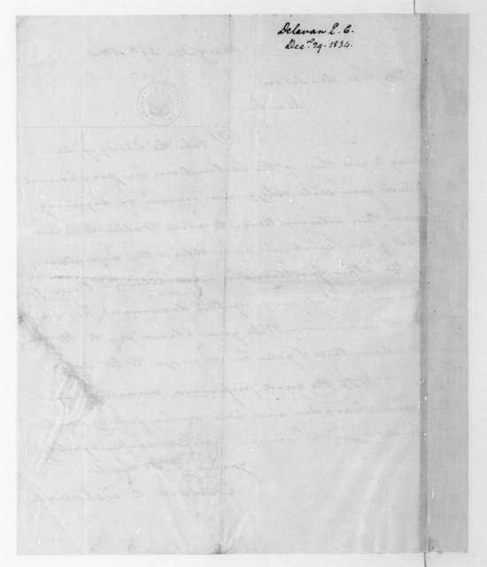 Edward C. Delavan to James Madison, December 29, 1834.