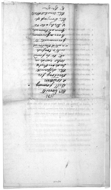 H. R. 490. May 20, 1834 ... A bill to provide for the establisment of the Western territory, and for the security and protection of the enigrant and other Indian tribes therein. [Washington, D. C. 1834].