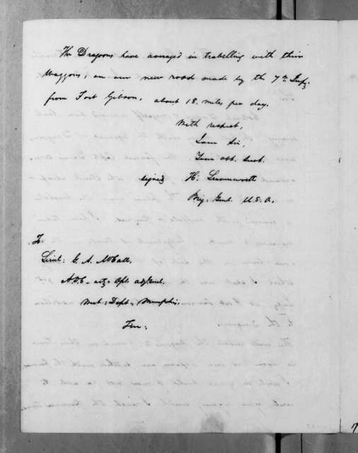 Henry Leavenworth to G. A. McCall, June 30, 1834