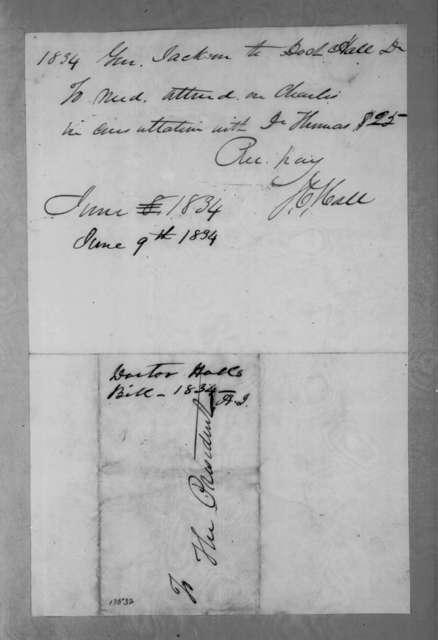 James C. Hall to Andrew Jackson, June 9, 1834