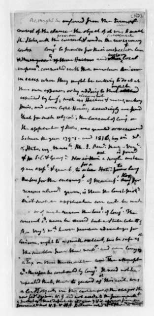 James Madison. Draft of preface to Debates in the Constitution Convention 1787.