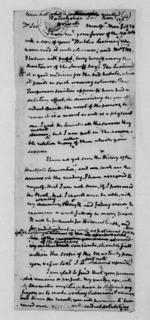 James Madison to Benjamin Waterhouse, March 1, 1834.