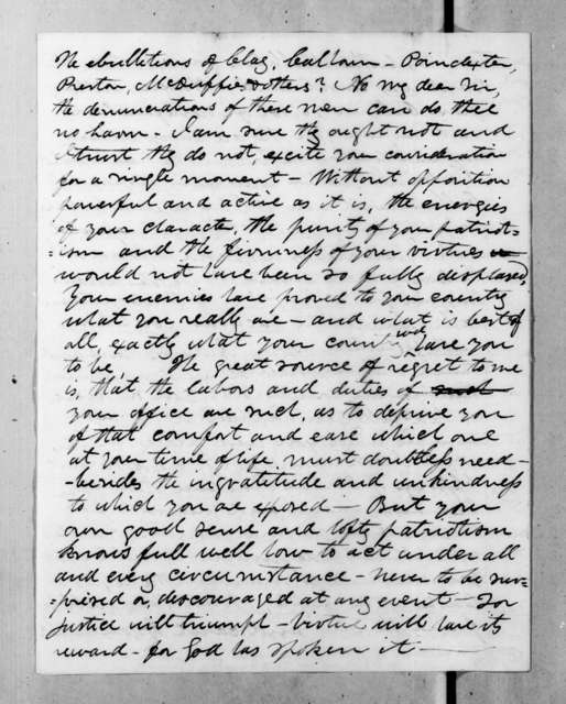 James O'Hanlon to Andrew Jackson, April 24, 1834