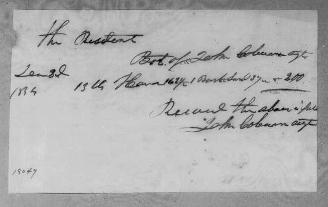 John Coburn to Andrew Jackson, December 3, 1834