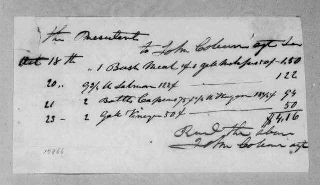 John Coburn to Andrew Jackson, October 18, 1834