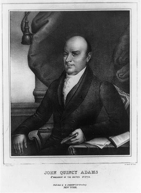 John Quincy Adams, 6th president of the United States / G. Stuart, pinxt. ; on stone by W. Ball.