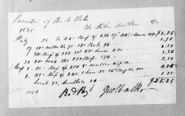 John Walker to Andrew Jackson, August 2, 1834