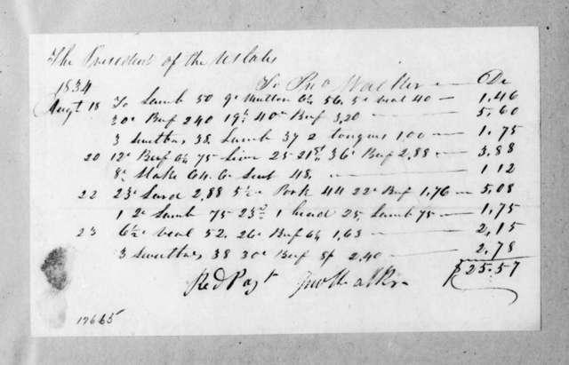 John Walker to Andrew Jackson, August 23, 1834