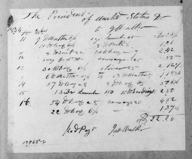 John Walker to Andrew Jackson, November 16, 1834