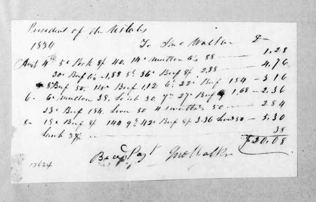 Joseph Walker to Andrew Jackson, August 4, 1834