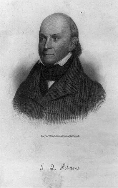 J.Q. Adams / engd. by V. Balch from a painting by Durant.