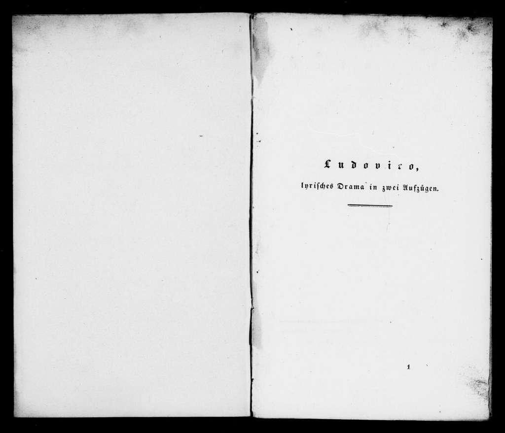 Ludovic. Libretto. German