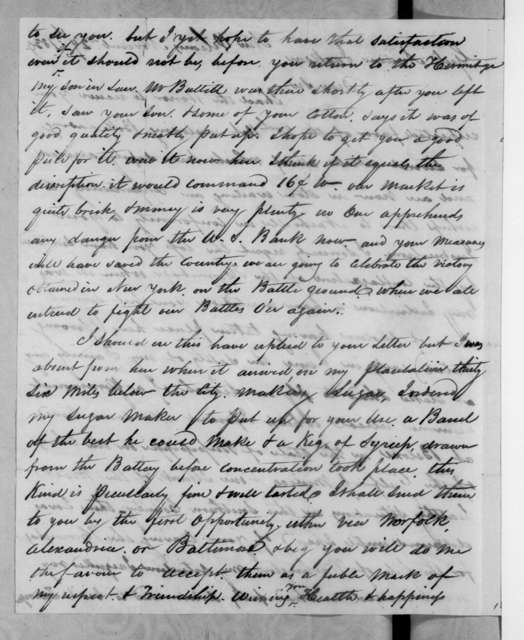 Maunsel White to Andrew Jackson, November 29, 1834