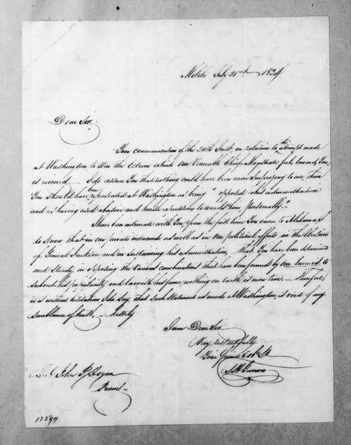 Samuel H. Garrow to John B. Hogan, July 21, 1834
