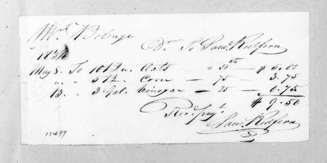 Samuel Redfern to Joseph Boulanger, May 13, 1834