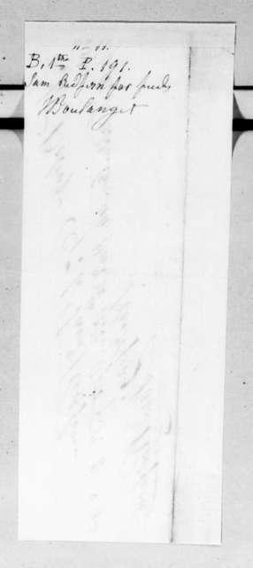 Samuel Redfern to Joseph Boulanger, September 15, 1834