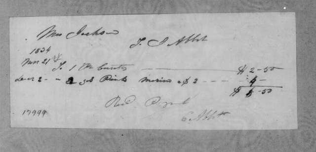 T. J. Abbott to Sarah Yorke Jackson, December 2, 1834