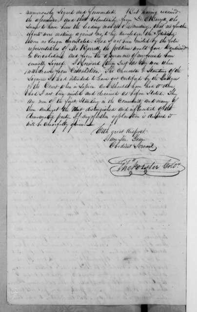 Thomas Forster to Levi Woodbury, November 26, 1834