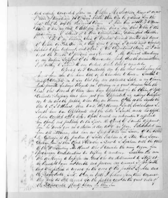 Thomas Forster to Levi Woodbury, October 6, 1834