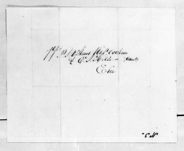 Thomas Forster to P. L. V. Harnot et al., August 26, 1834