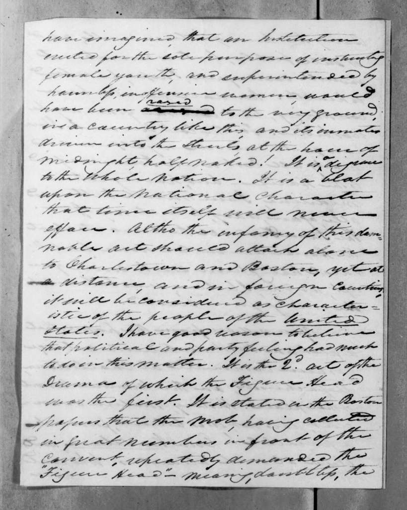 William Berkeley Lewis to Andrew Jackson, August 18, 1834