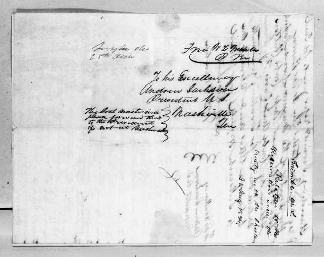 William L. Trimble to Andrew Jackson, August 25, 1834