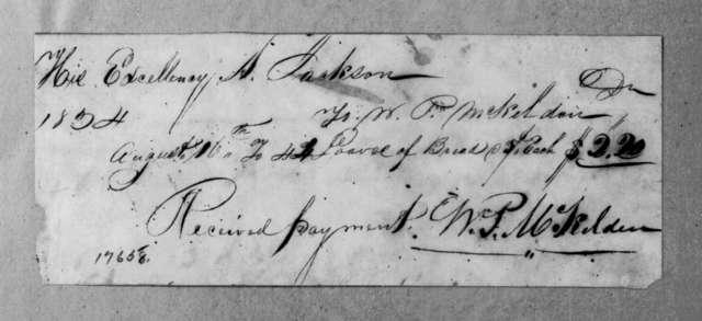 William P. McKelden to Andrew Jackson, August 16, 1834