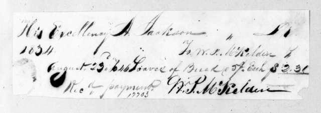 William P. McKelden to Andrew Jackson, August 23, 1834
