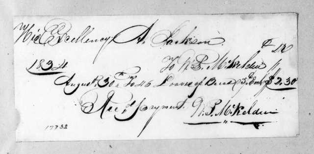 William P. McKelden to Andrew Jackson, August 30, 1834