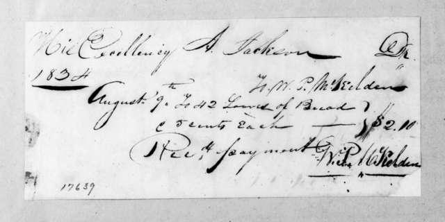 William P. McKelden to Andrew Jackson, August 9, 1834