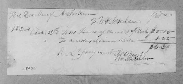 William P. McKelden to Andrew Jackson, December 13, 1834